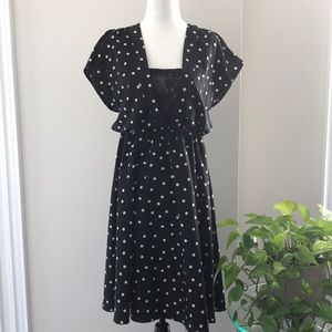 H&M Butterfly sleeves polka dots dress